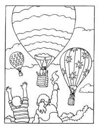 luchtballon kleurplaten gratis kleurplaten printen