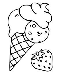 ijsjes kleurplaten gratis kleurplaten printen