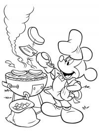 Barbecueën met Mickey Mouse