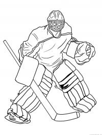 Ijshockey keeper
