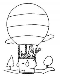 sint in de luchtballon