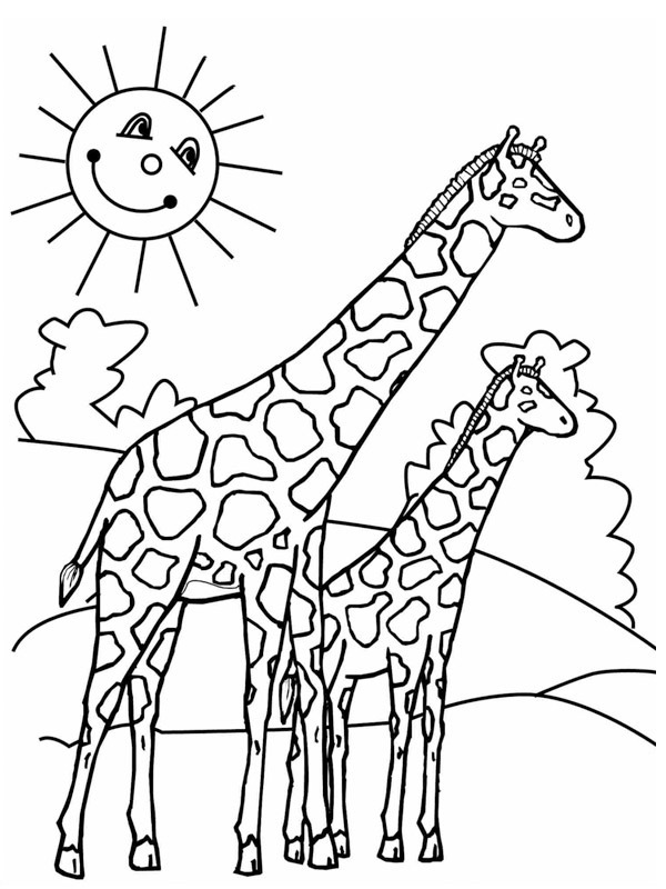 kleurplaat giraf leukekleurplaten nl