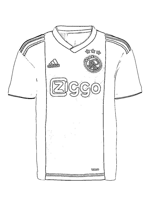 kleurplaat ajax voetbalshirt leukekleurplaten nl