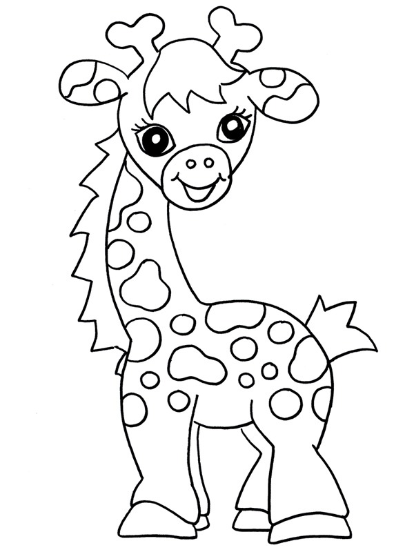 kleurplaat baby giraf leukekleurplaten nl
