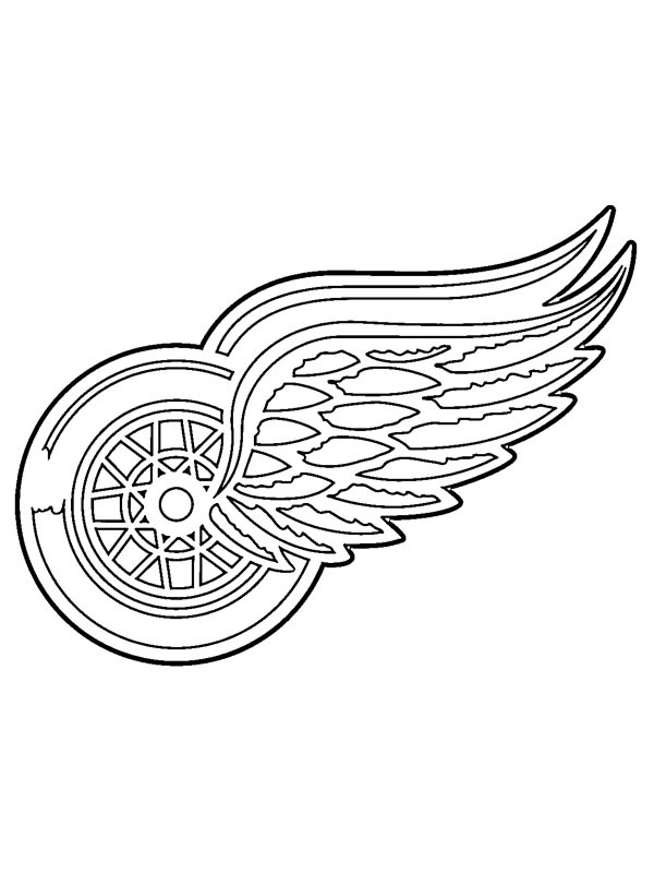Kleurplaat Detroit Red Wings
