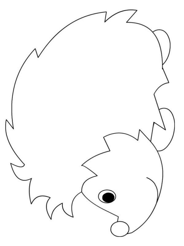 kleurplaat egel eenvoudig  leukekleurplatennl