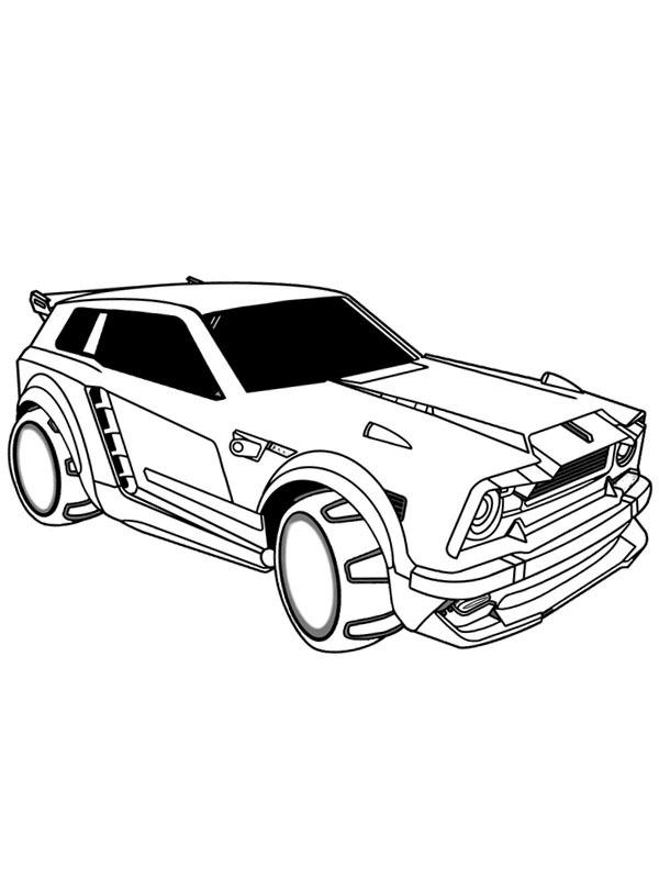 Kleurplaat Rocket League Auto - Nascar Coloring Pages To ...