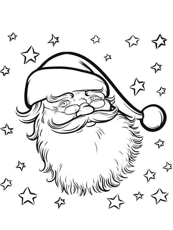 gezicht kerstman