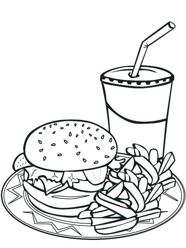 kleurplaat hamburger menu leukekleurplaten nl