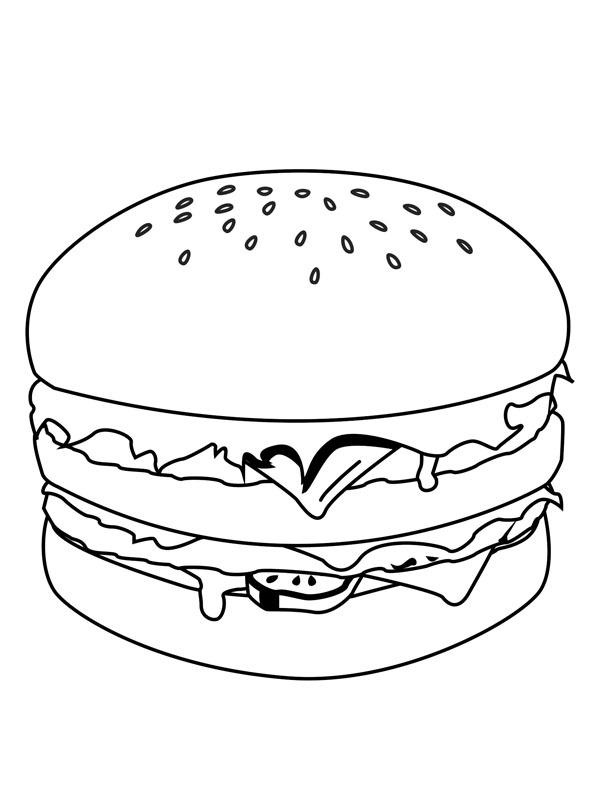 kleurplaat hamburger leukekleurplaten nl