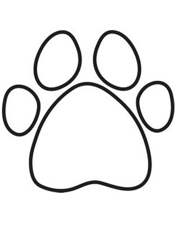 kleurplaat hondenpoot leukekleurplaten nl