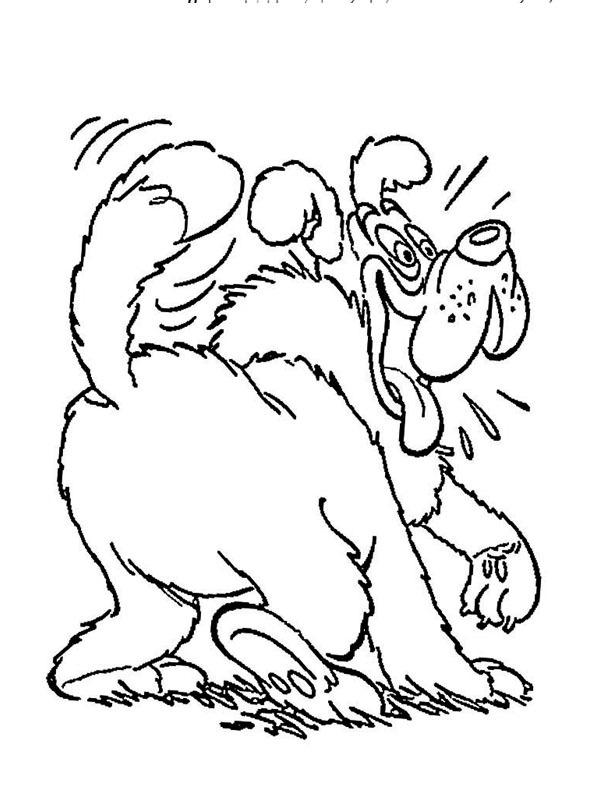 Kleurplaat Loebas De Hond Van Donald Duck Leukekleurplaten Nl