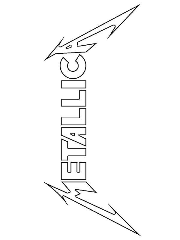 kleurplaat metallica logo leukekleurplaten nl