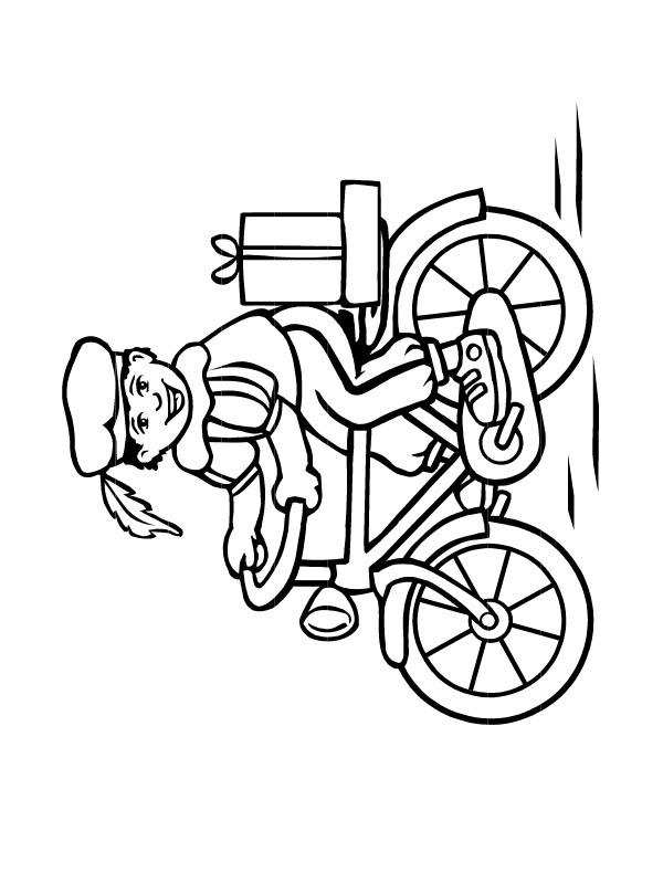 kleurplaat piet op de fiets leukekleurplaten nl