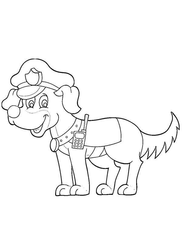 kleurplaat politiehond leukekleurplaten nl