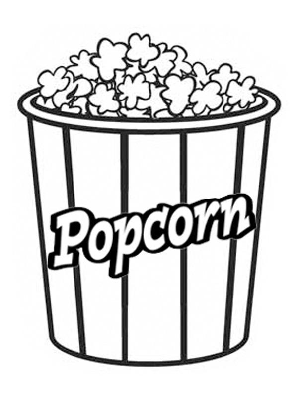 kleurplaat popcorn leukekleurplaten nl