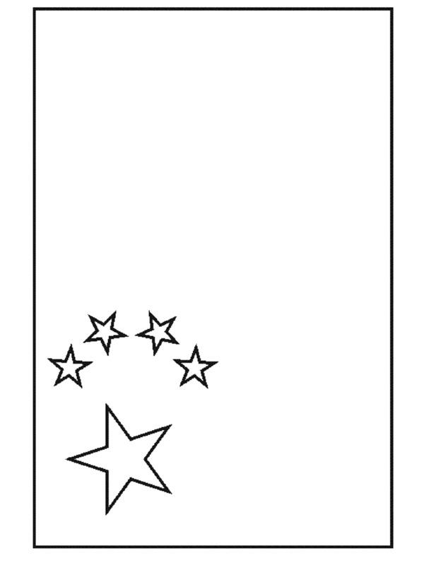 kleurplaat vlag china leukekleurplaten nl