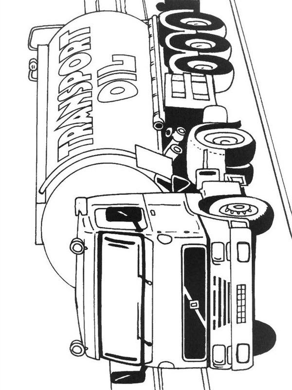 kleurplaat volvo tankwagen leukekleurplaten nl
