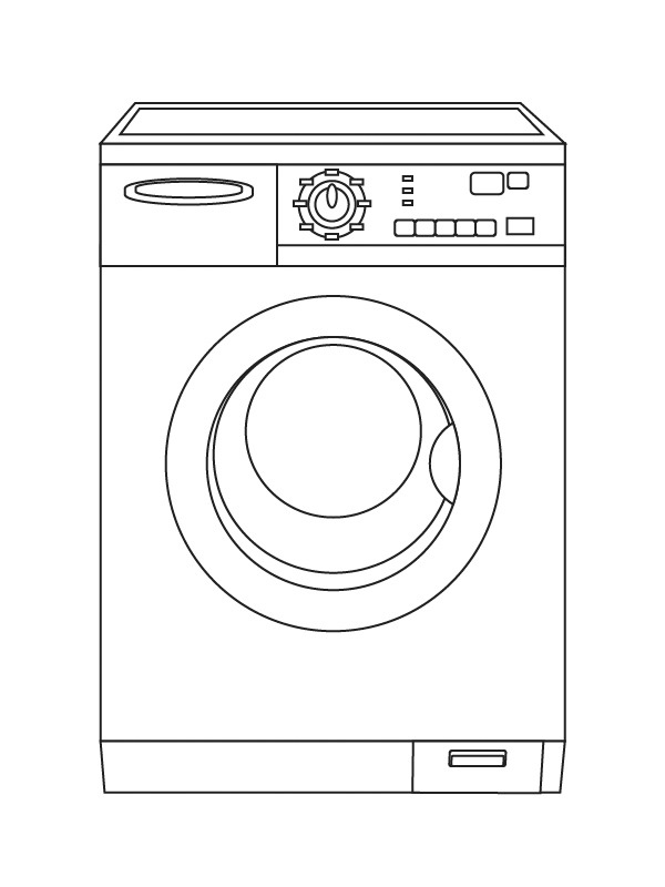 kleurplaat wasmachine leukekleurplaten nl